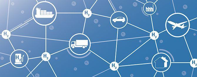 A visual representation of a supply chain network