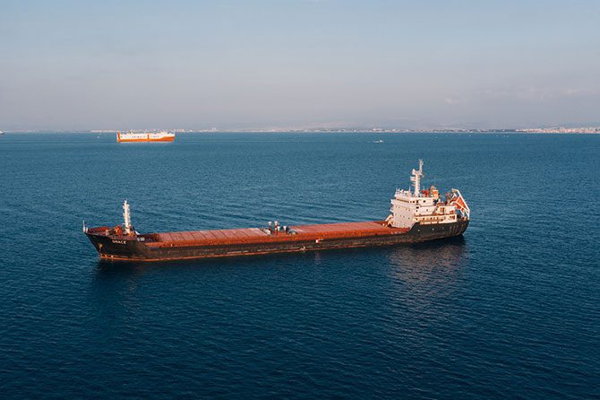 A freight boat